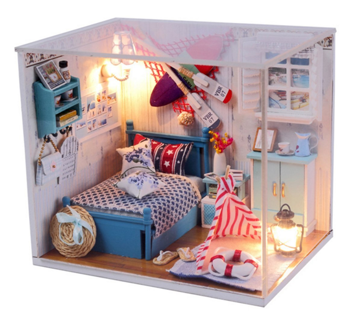 Amazoncom Wind Dollhouse Miniature DIY Dream House