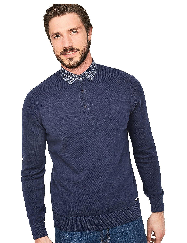 Mens Threadbare Polo Style Cotton Sweater