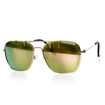 Sonnenbrille Damen oder Herren Unisex Pilotenbrille Motorradbrille Aviator-Style Retro Verspiegelt Getönt UV400 CAT 3 CE-Norm von EYES ON ME, Farbe:silber-silber-verspiegelt