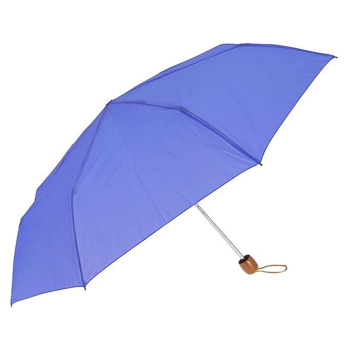 Susino - Paraguas plegable de 3 pliegues (Talla Única/Azul)