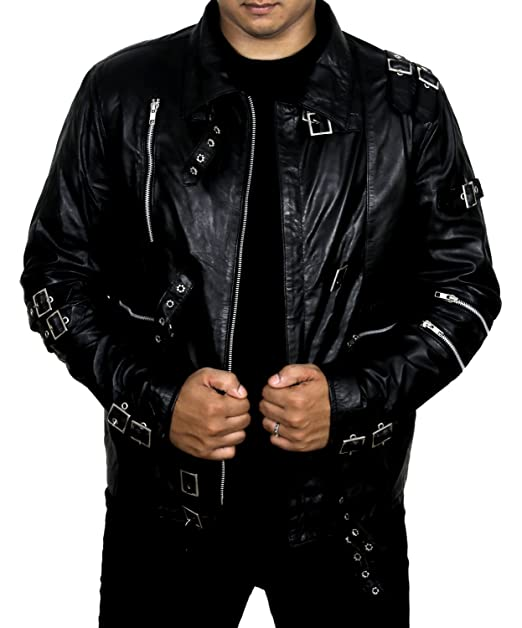 Amazon.com: Micheal Jackson Bad Leather Jacket: Clothing