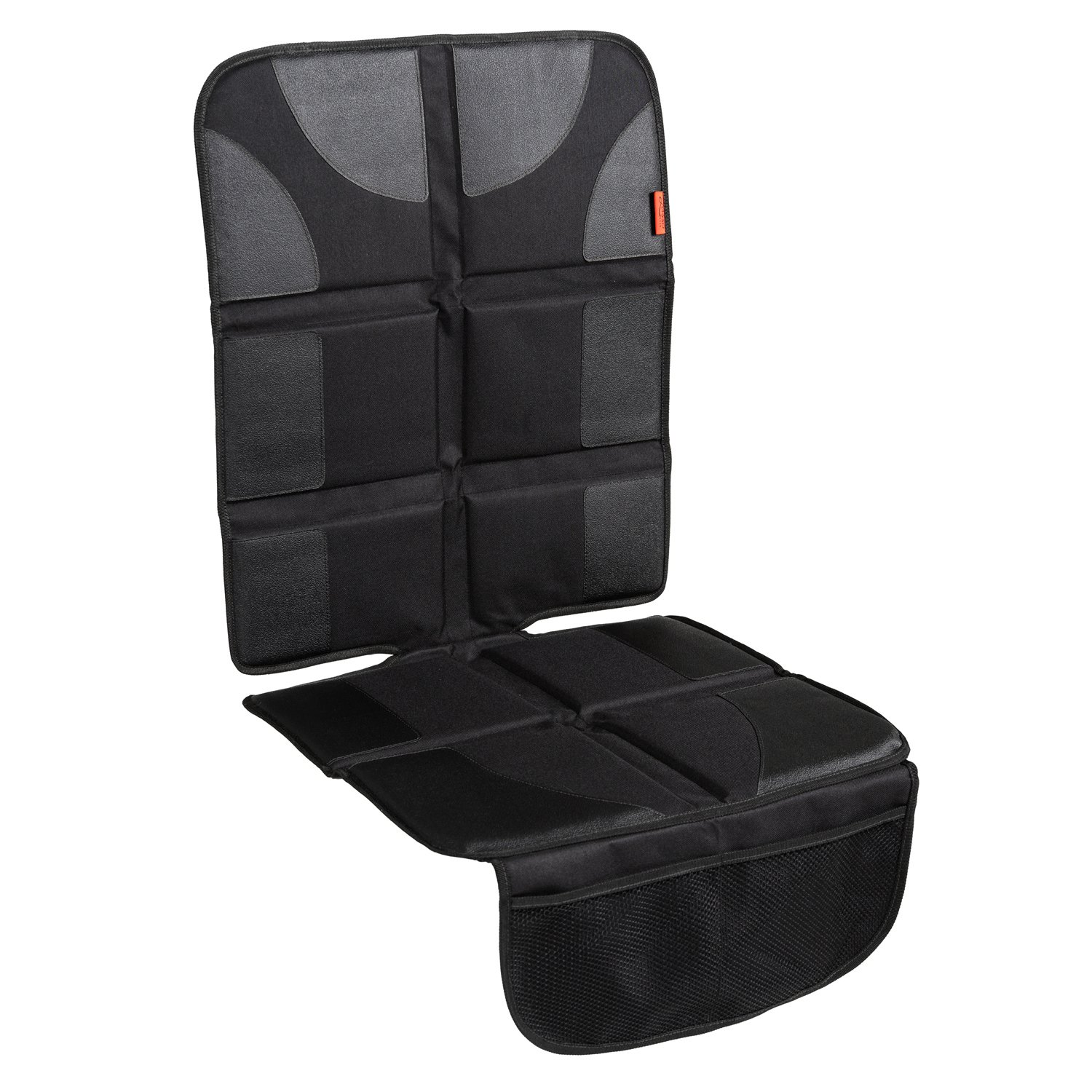 Car Seat Protector with Thickest Padding - Featuring XL Size (Best Coverage Available), Durable, Waterproof 600D Fabric, PVC Leather Reinforced Corners & 2 Large Pockets for Handy Storage Lusso Gear