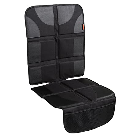 Car Seat Protector With Thickest Padding   Featuring Xl Size (Best Coverage Available), Durable, Waterproof 600 D Fabric, Pvc Leather Reinforced Corners & 2 Large Pockets For Handy Storage by Lusso Gear