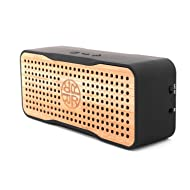 Solar Speaker, Portable Wireless Bluetooth Bamboo Speaker & Phone Charger by REVEAL - Eco-Friendly Bamboo Wood Design