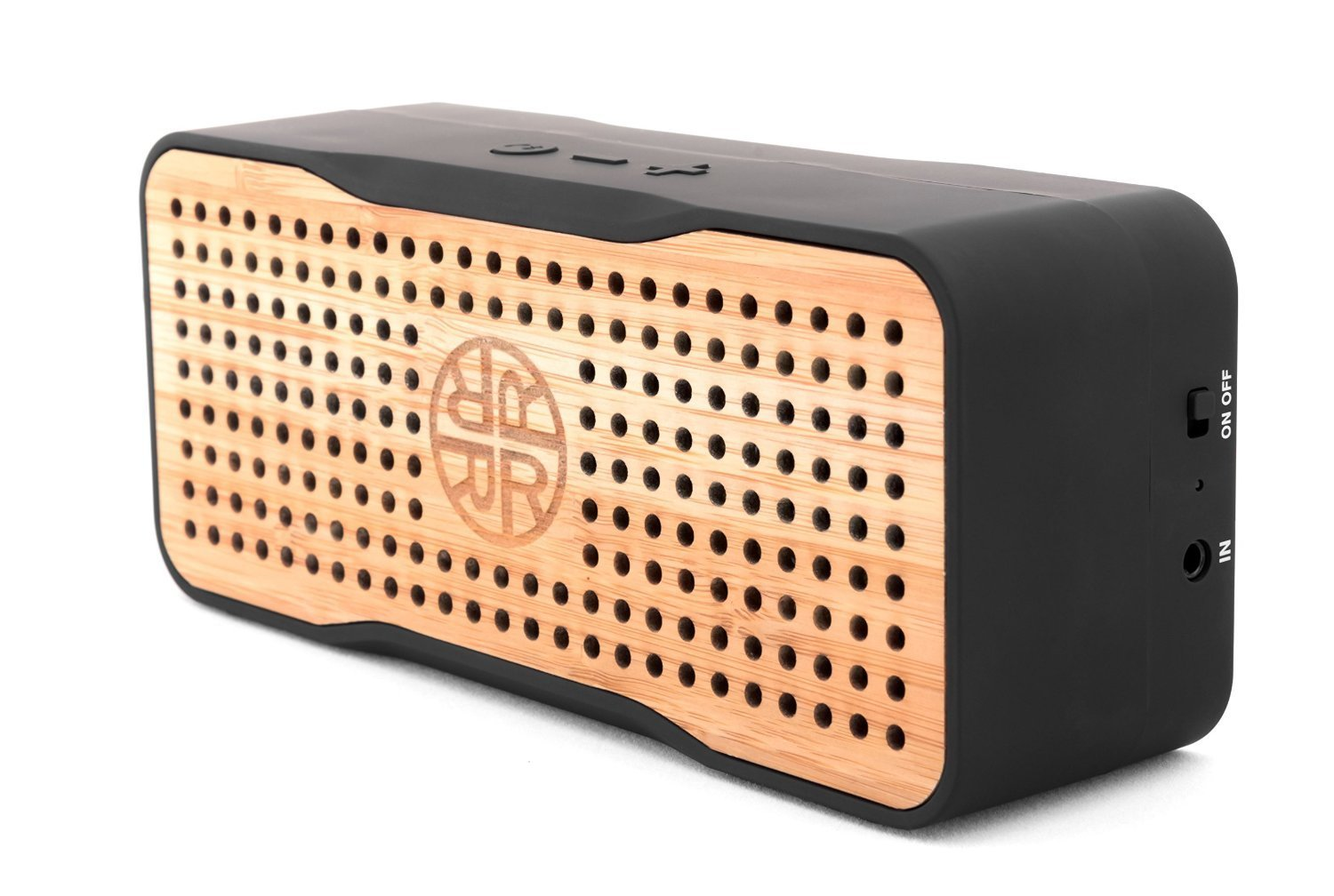 Solar Speaker, Portable Wireless Bluetooth Bamboo Speaker & Phone Charger by REVEAL - Eco-friendly Bamboo Wood Design by Reveal
