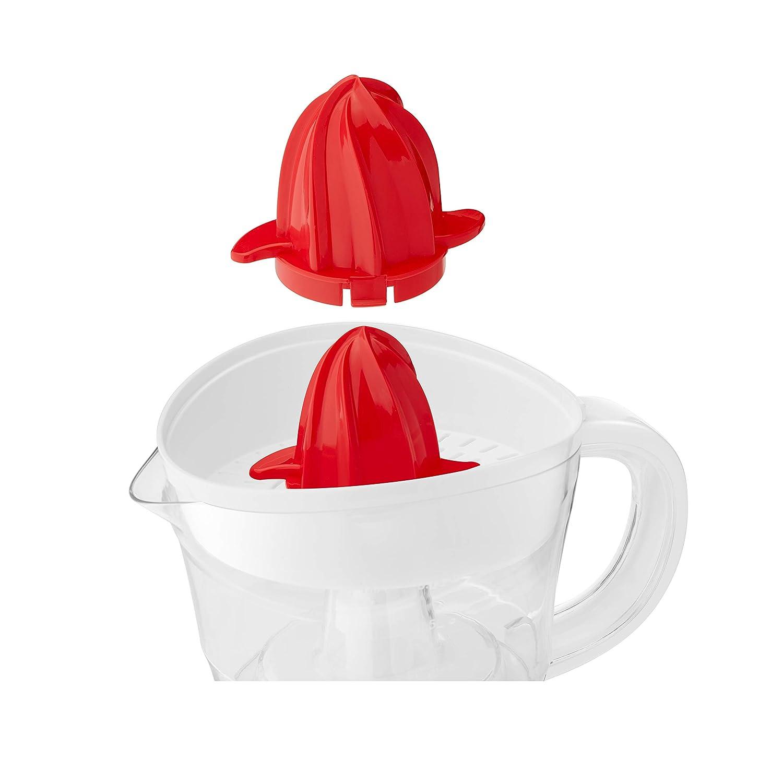Tapa Protectora con 2 Conos para FrutaGrande o Peque/ña Capacidad 07L, Exprimidor el/éctrico para zumo de c/ítricos 25W Apto Lavavajillas Ufesa EX4936