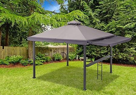 Sunjoy doble techo gazebo-standard Gazebo con barra riel: Amazon ...