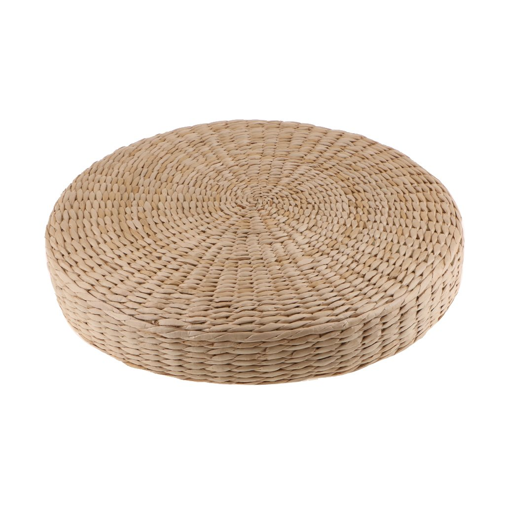 MonkeyJack Nature Handmade Straw Woven Seat Cushion Dia. 40cm Tatami Round Braided Mat - 1#