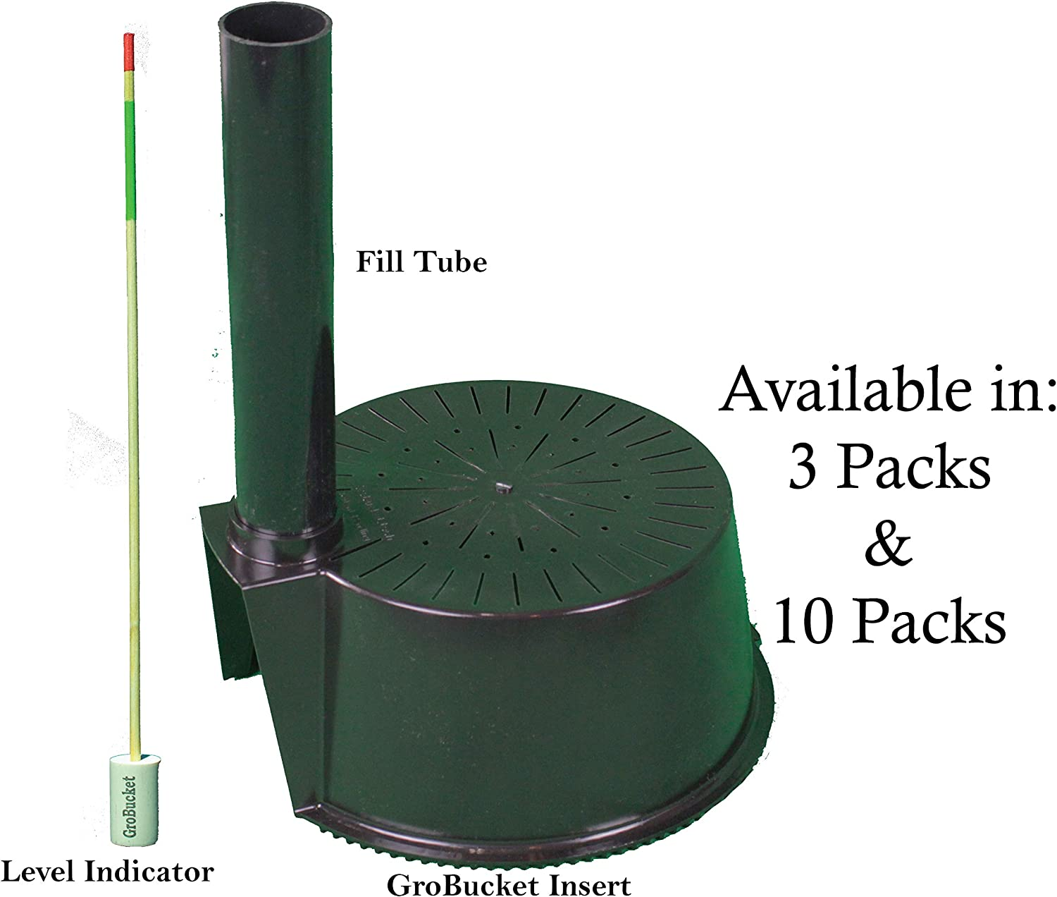 GroBucket Garden Kit 3PK Self Watering sub-irrigated planter insert. Turn any bucket into a Self Watering Container Garden. Create an indoor or outdoor, space saving and portable garden in minutes.