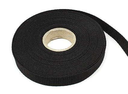 UV 40mm 1,8mm stark schwarz 0,50 EUR//m 10m PP Gurtband