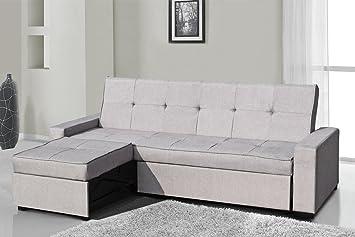 Sofa Seattle moderno de 3 plazas en piel sintética, con ...