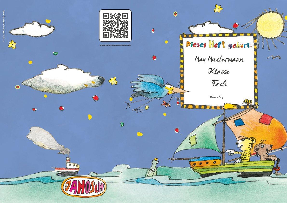 24 lustige JANOSCH-Schulhefte A4, »Spannende Seefahrt«, Lineatur 28, Pistaziengelb, personalisierbar, 32 Seiten B076QCD9TV   Ermäßigung    Hohe Qualität    Lebensecht