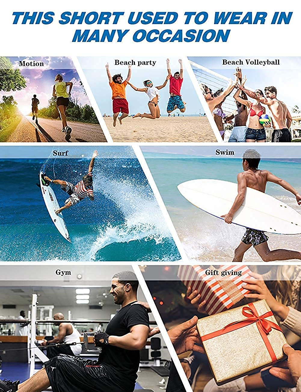 MIGAGA Mens Swim Trunks Succulents Purple Blue Green Surfing Beach Board Shorts Swimwear
