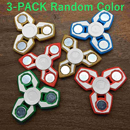 3 Pack Random Color Hand Fidget Spinner Toy Stress Reducer Good For ADHD EDC Killing
