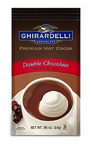 Ghirardelli Double Chocolate Premium Hot Cocoa, Single Serve Packet