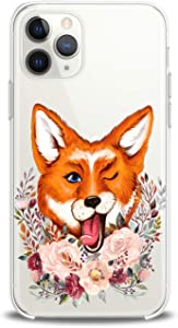 Lex Altern Case Compatible with iPhone 12 Mini 5G 11 Pro Xs Max Xr 8 X 7 Plus 6 SE 5 Smooth Lightweight Animals Kawaii Flowers Wink Soft Cover Floral Fox Print Funny Design Clear Art Slim fit Women