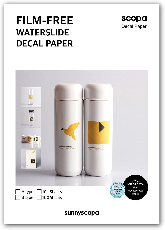 "10 sheets DIY Inkjet Waterslide Decal Paper Clear Water Slide Paper 11/""x8.5/"""