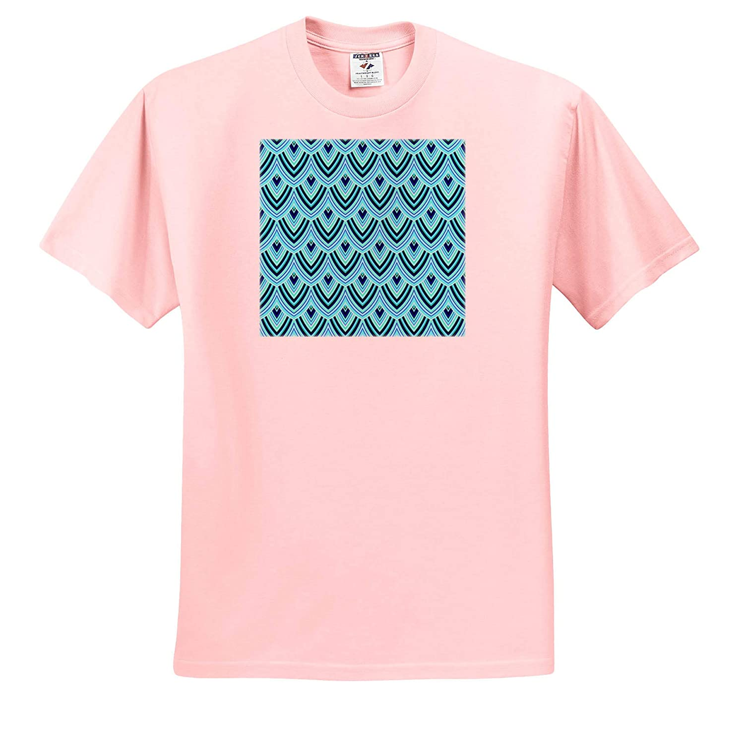 Turquoise Allover Scale Pattern T-Shirts 3dRose Andrea Haase Allover Pattern