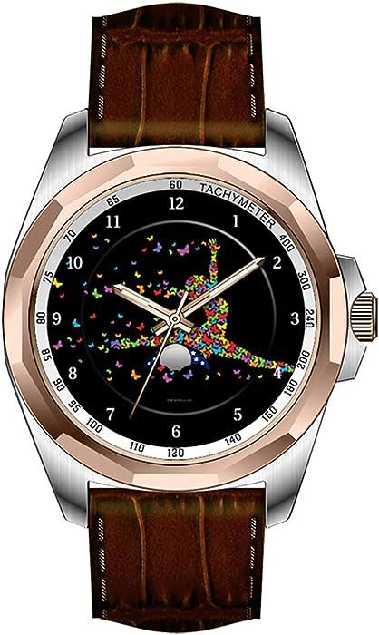 aimashi para hombre personalizada diseño único de moda impermeable reloj de pulsera de oro – mariposa bailarina los relojes de pulsera