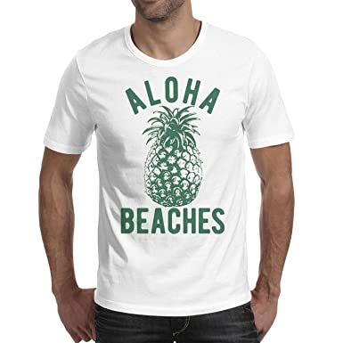 e28768a38 ShengMingo Aloha Beaches Funny Hawaii Summer Vacation Pineapple Man t Shirts