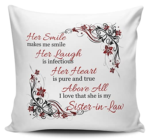 Su sonrisa Me hace sonreír cunada flashsellerz cojín Floral ...