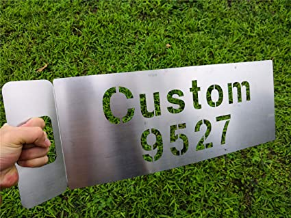 Amazon com: Zzooi Custom Warning Signs Hollowed Stencils for