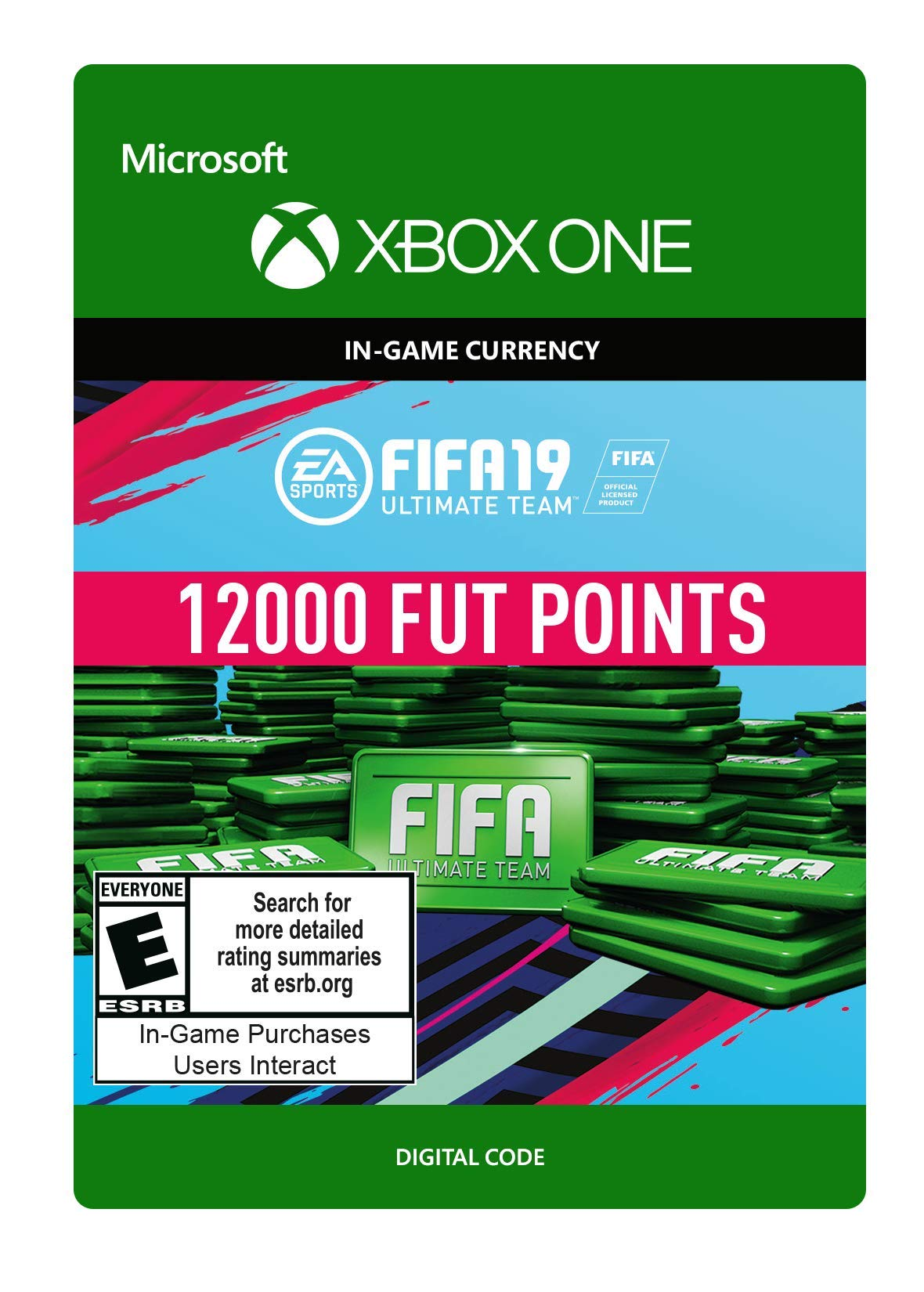FIFA 19: ULTIMATE TEAM FIFA POINTS 12000 - Xbox One [Digital Code] by Electronic Arts (Image #1)
