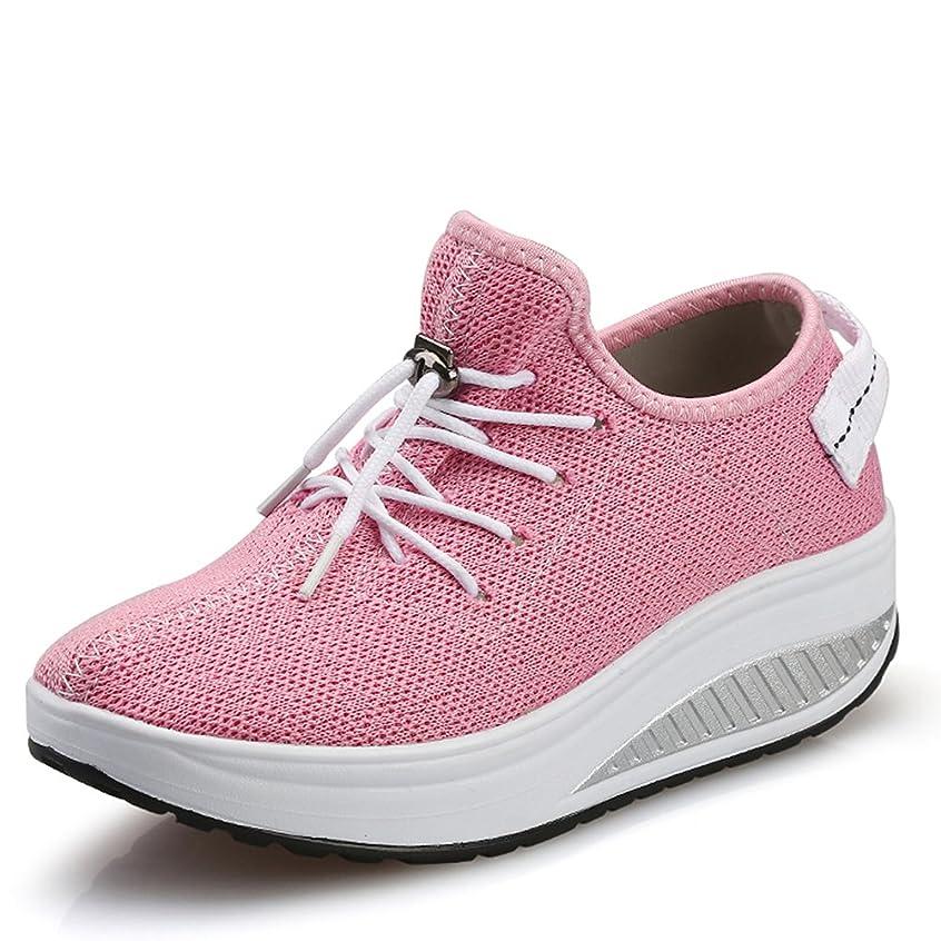 10ea1e909a5 JARLIF Women s Platform Wedges Tennis Walking Sneakers Comfortable  Lightweight High Heel Fitness Shoes US5-9