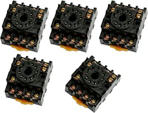 uxcell 5 Pcs PF113A Relay Base Socket 11 Pin for MK3P-I JQX-10F/3Z