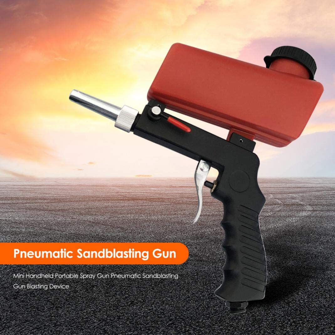 Single Hand Sand Blasting Machine Red Portable Decoration Blasting Tool Mini Pneumatic Blasting Tool