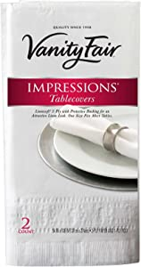 Vanity Fair Impressions Tablecovers - 54 x 108 in - 2 ct