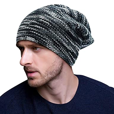 29cf293f Mens Women Slouchy Beanie Winter Knitted Hat Ski Baggy Skull Cap Outdoor Hat  for Travel/Hiking/Camping/Fishing/Cycling/Ski(Grey): Amazon.co.uk: Clothing