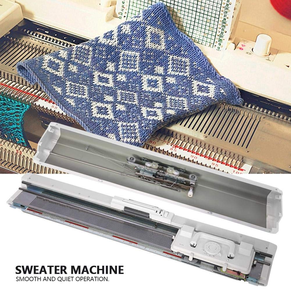 Akozon Sweater Knitting Machine 4.5mm Standard Gauge Plastic Knitting Machine for Silver Reed SRP50 SRP60 SRP60N for Stockinet, Tuck, Slip, Fairisle, Thread Lace, Knit Weaving, and Plating by Akozon (Image #2)