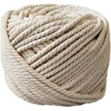 PYJTRL 100% Natural cotton Twisted Rope 1/12, 1/8, 1/6,1/5 (5mm(1/5Inch x 165Feet))