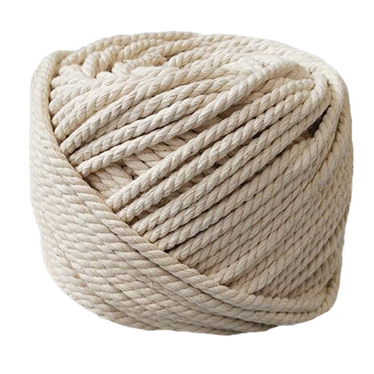 PYJTRL 100% Natural Cotton Twisted Rope 1/12'', 1/8'', 1/6'',1/5'' (6mm(1/4Inch x 165Feet)) by PYJTRL