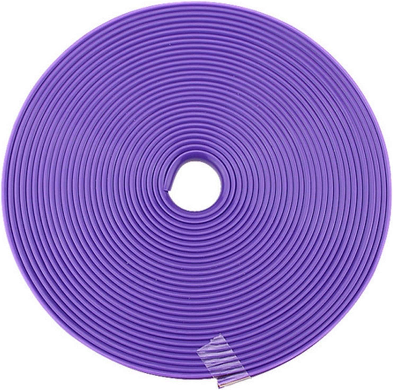 8m coche vehículo llantas llantas protectores de tira de goma colorida cinta de cinta llantas protección protección decorativo neumático Protector de llanta de rueda (Color : Purple)