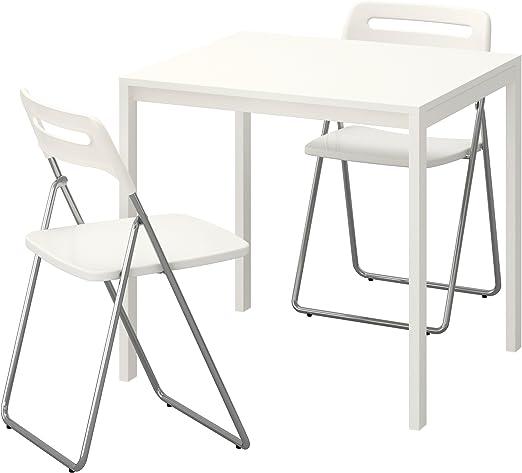 Zigzag Trading Ltd Mesa y 2 sillas Plegables Blanco/Blanco - IKEA ...