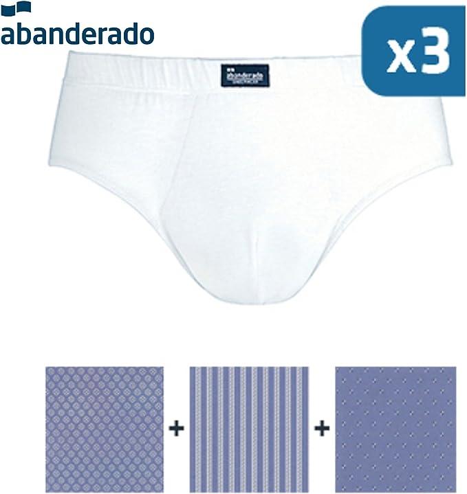 Abanderado Pack x 3 Slips Azul: Amazon.es: Ropa y accesorios