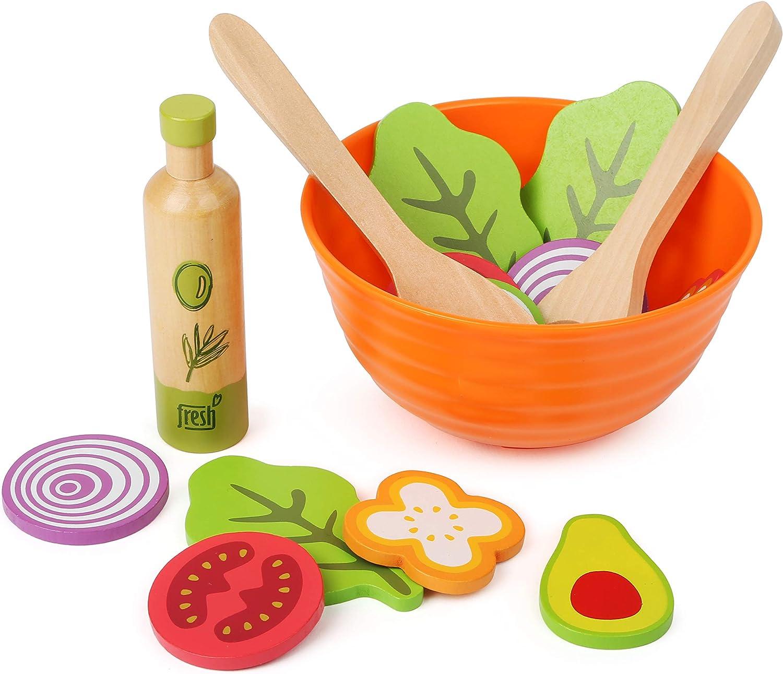 Holz Servierbesteck f/ür Salat Set mit Salatl/öffel und Salatgabel 30,5 cm com-four/® 2-teiliges Salatbesteck aus Holz