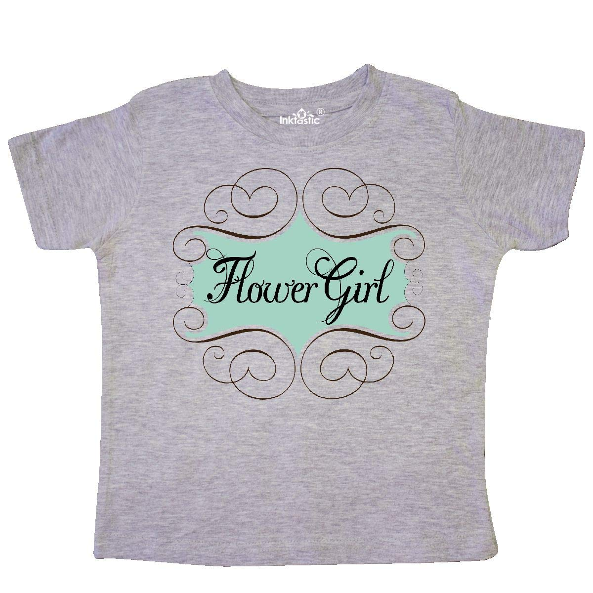 inktastic Flower Girl Aqua Wedding Toddler T-Shirt