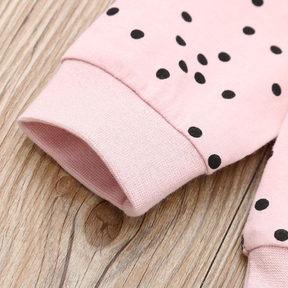 Kobay Babykleidung M/ädchen Winter Kleinkind Kinder Baby M/ädchen Polka Dot R/üschen T-Shirt Tops Hosen Kleidung Outfits Set