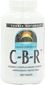 Source Naturals C-B-R Vitamin C/Bioflavonoid Complex, Antioxidant Protection, 250 Tablets