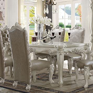 Acme Furniture Versailles Rectangular Dining Table   Bone