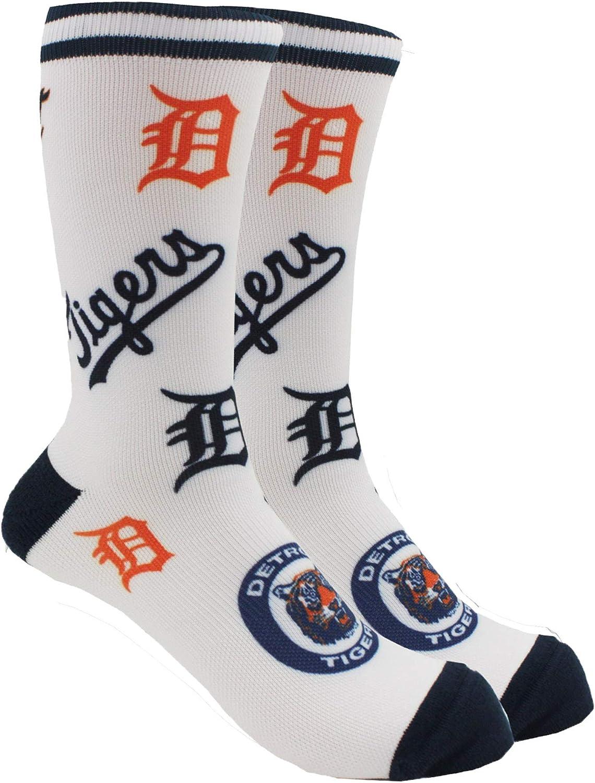 PKWY Unisex 2-Pack MLB Detroit Tigers Crew Socks