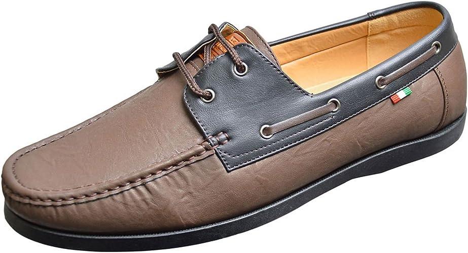 Duke D555 Burch Mens Boat Shoes - Brown