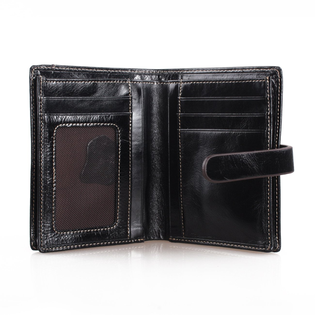 Amazon.com: Wallet Ladies Womens Clutch Leather With Zipper ...