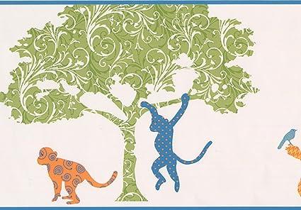 York Wallcoverings Modello Fenicottero Bambini Albero Scimmia