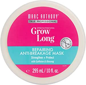 Marc Anthony Grow Long Anti-Breakage Hair Mask, 10 Ounce Jar