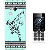 000067 - Vintage Aztec Drawing Bird Music Notes Love And Peace Design Microsoft Nokia 216 Fashion Trend CASE Gel Rubber Silicone All Edges Protection Case Cover