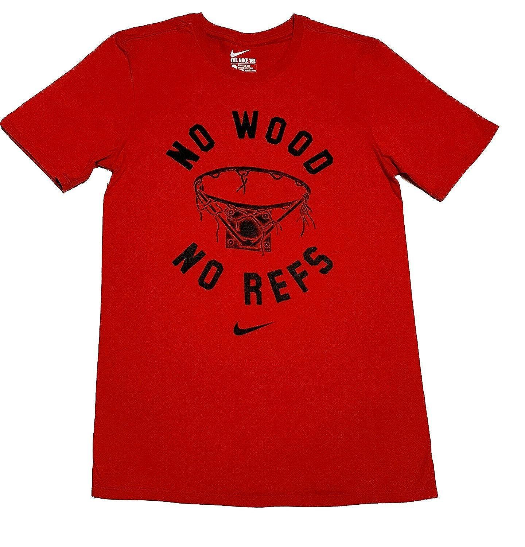 63fb310f11db Top8  Nike Men s No Wood No Refs Graphic T-Shirt Red ah3208 657
